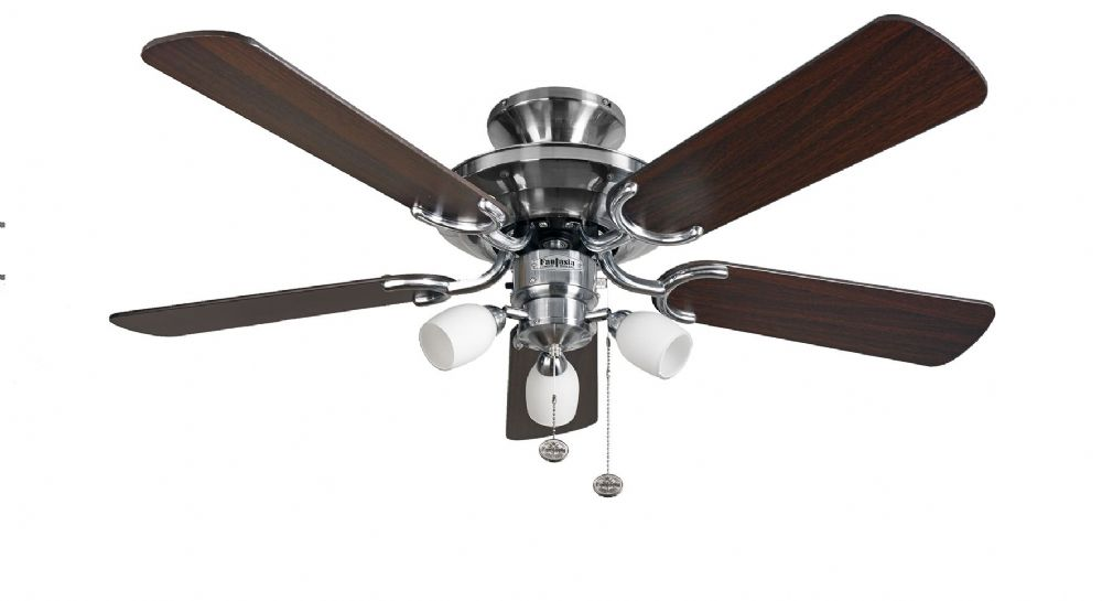 "Fantasia Mayfair Combi 42"" Stainless Steel Ceiling Fan +  Light 115496"